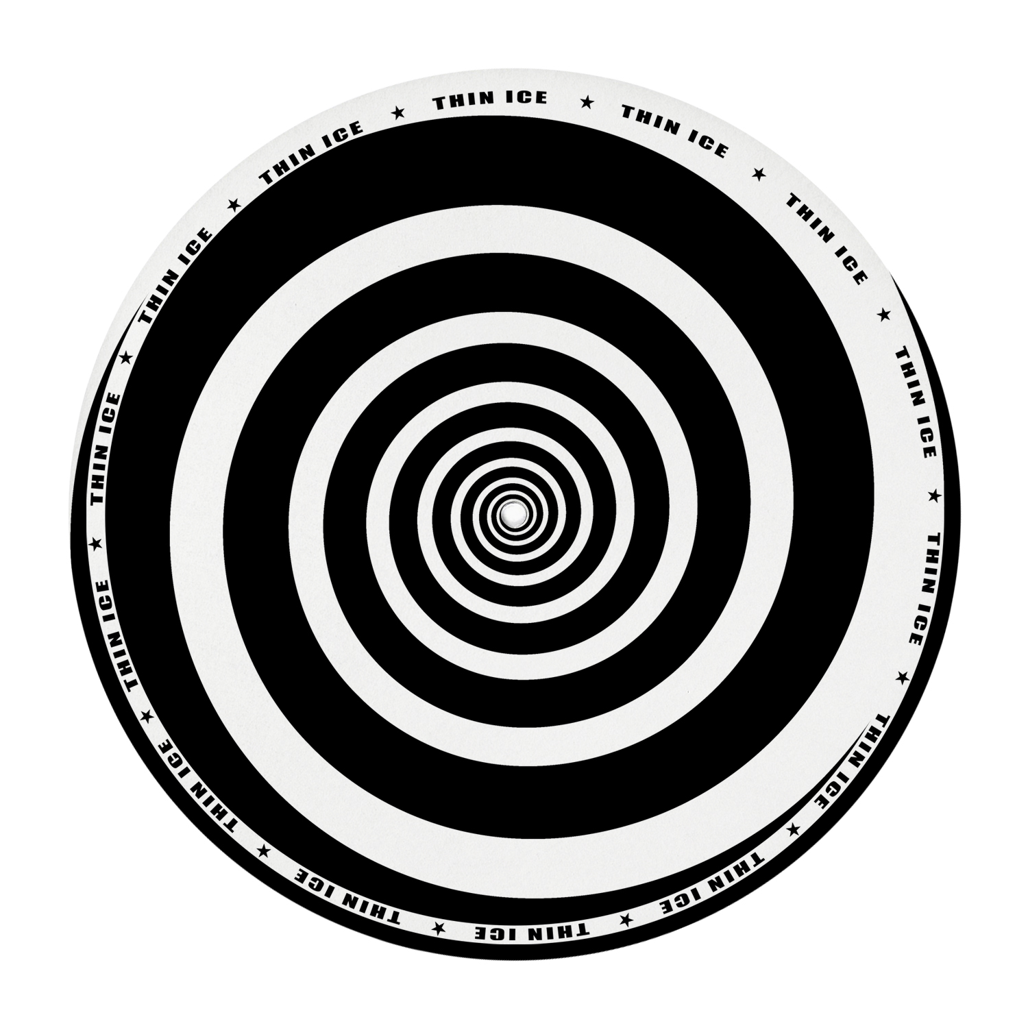 Black and white spiral 12″